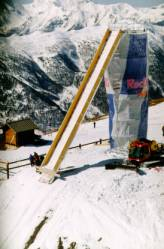 Red Bull ramp at Les Arcs race track in France